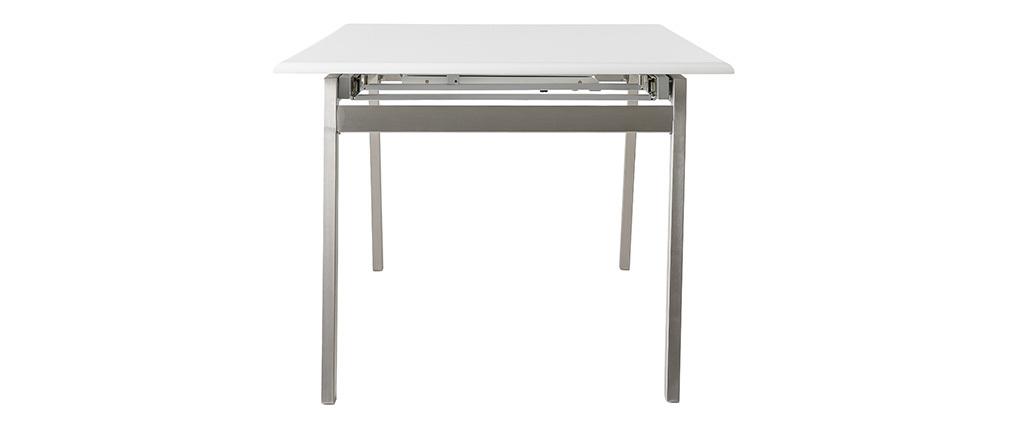Tavolo da pranzo design allungabile bianco e metallo L190-240 MARNY