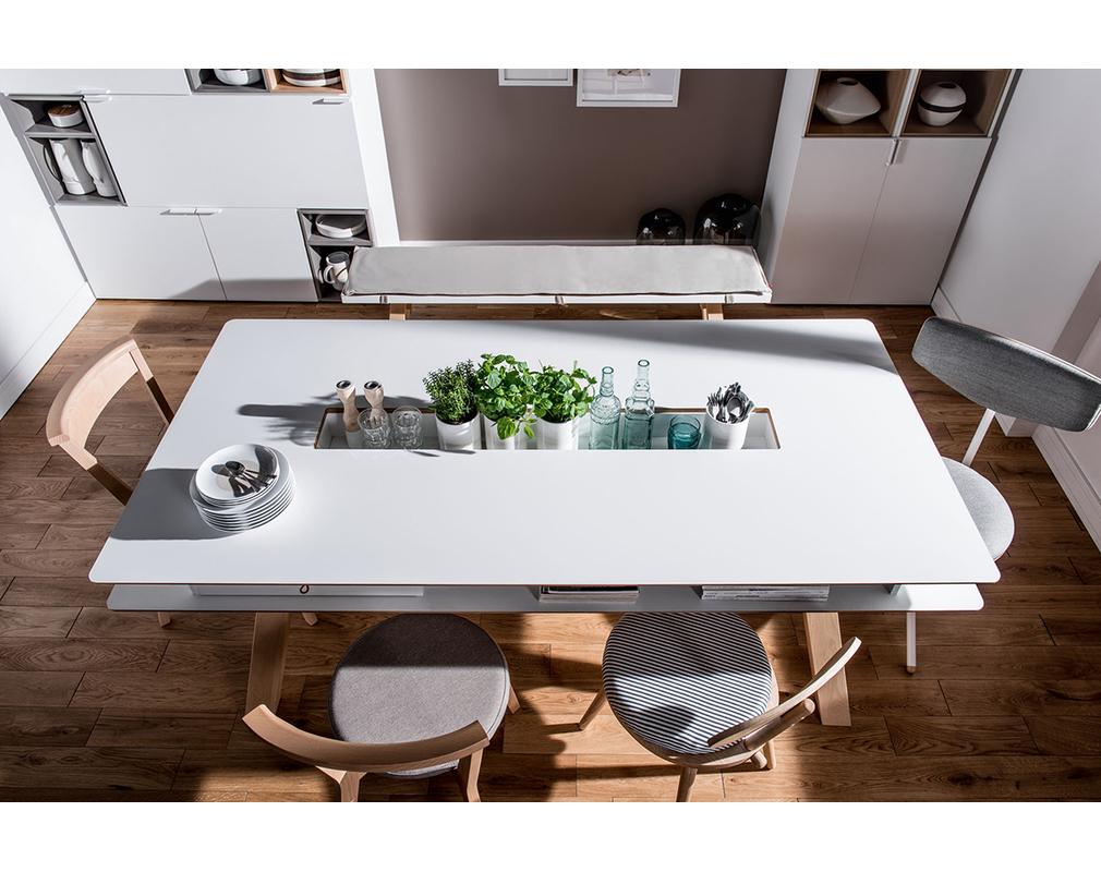 Tavolo da pranzo design con nicchie 200cm WITTY - Miliboo