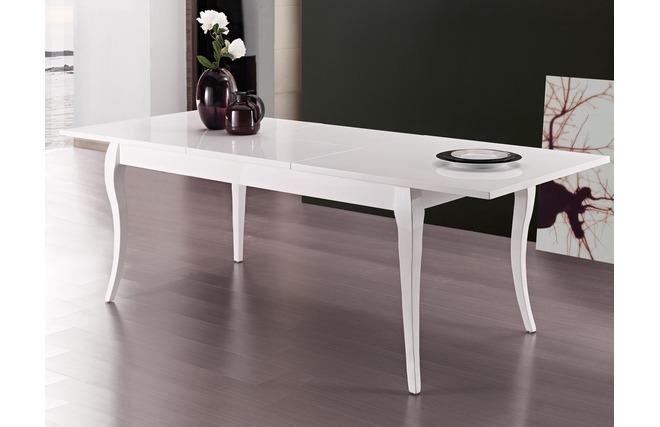 Tavolo da pranzo design estensibile bianco MOLIERE - Miliboo