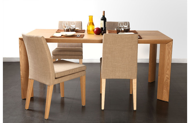 Tavolo da pranzo design frassino LOUNA - Miliboo