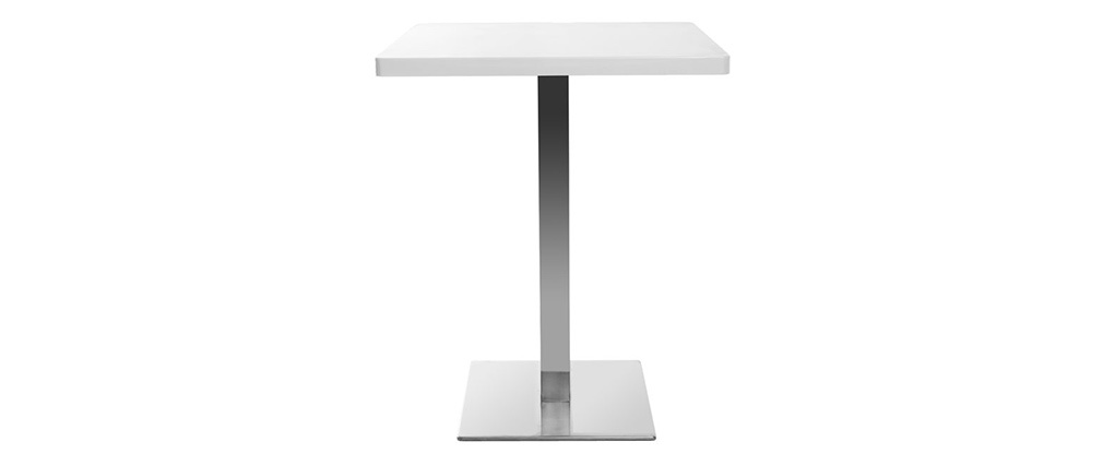 Tavolo da pranzo design quadrato bianco piede centrale JORY