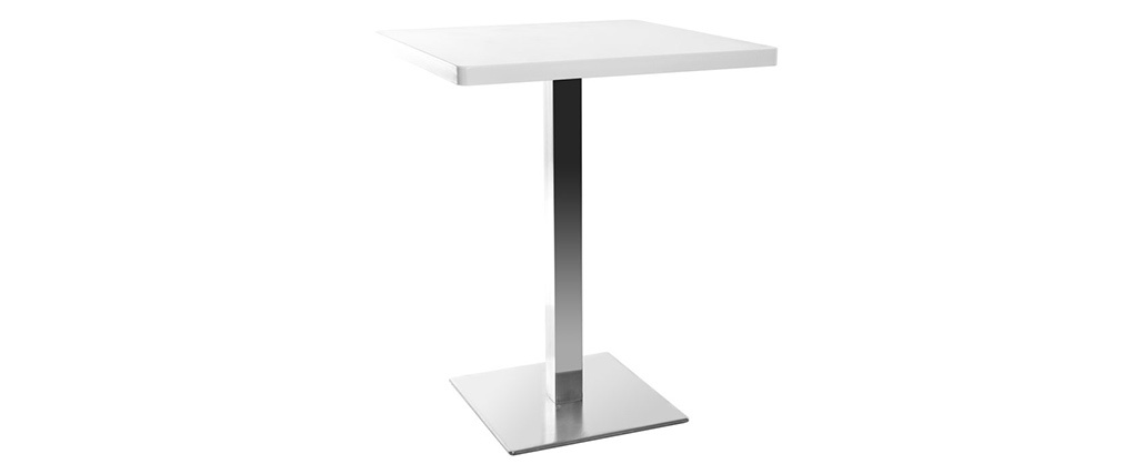 Tavolo da pranzo design quadrato bianco piede centrale L60 JORY