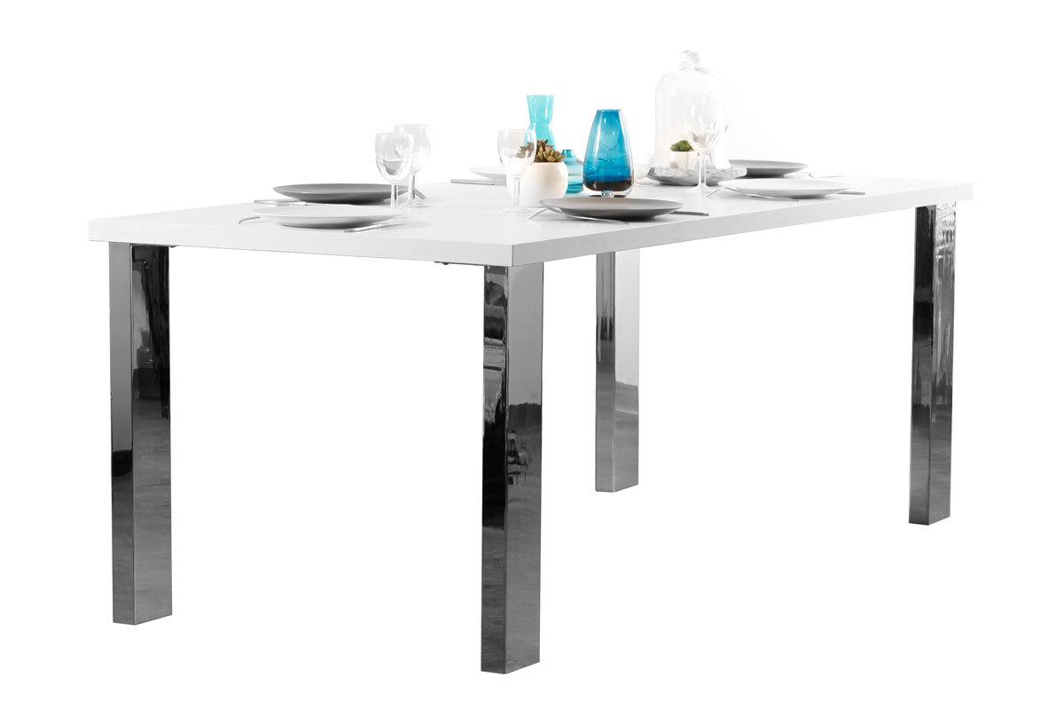 Tavolo da pranzo design rettangolare bianco satinato UP TO YOU - Miliboo