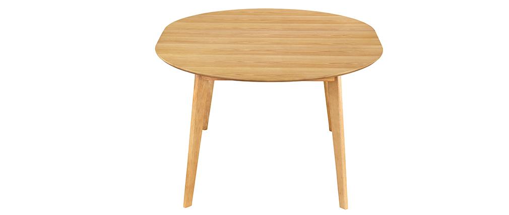 Tavolo da pranzo design rotondo allungabile quercia L120-150 LEENA