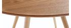 Tavolo da pranzo design rotondo frassino D90 ARTIK