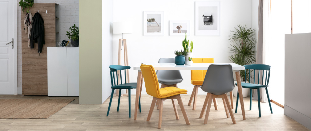 Tavolo da pranzo design scandinavo L160 TOTEM