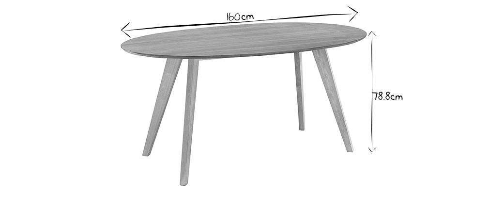 Tavolo da pranzo design scandinavo ovale noce MARIK