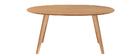 Tavolo da pranzo design scandinavo ovale quercia L160 MARIK