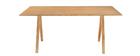 Tavolo da pranzo design scandinavo quercia L180 DANA