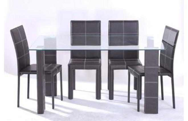 Tavolo da pranzo e 4 sedie design banak miliboo - Sedie pranzo design ...