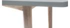 Tavolo da pranzo fisso scandinavo quercia sbiancata e grigio opaco NARVIK