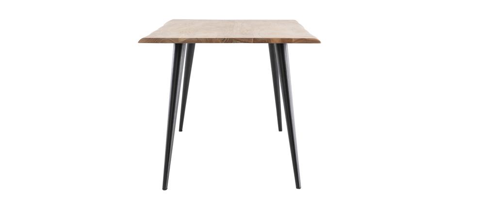 Tavolo da pranzo in acacia e metallo L175 EDGE