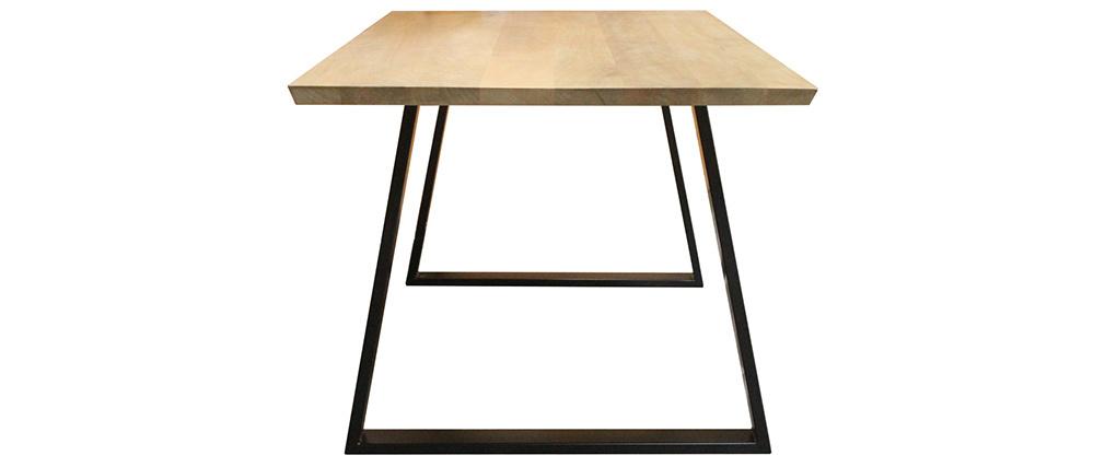 Tavolo da pranzo in mango e metallo nero L160 cm VIJAY