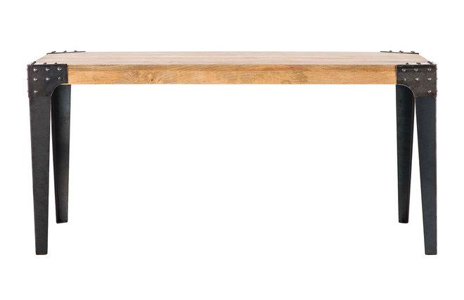 Tavolo Da Pranzo Industriale : Tavolo da pranzo industriale in acciaio e legno cm madison