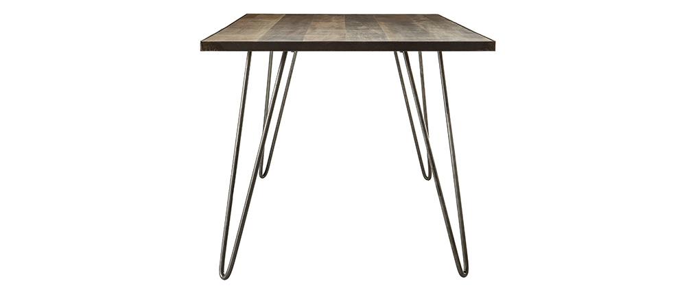 Tavolo da pranzo industriale rattangolare legno metallo ATELIER