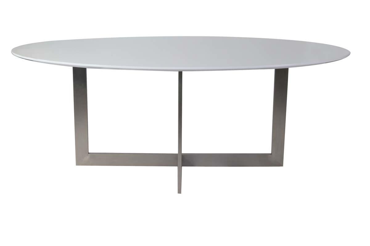 Tavolo da pranzo ovale in quercia di colore bianco e for Tavolo da pranzo ovale