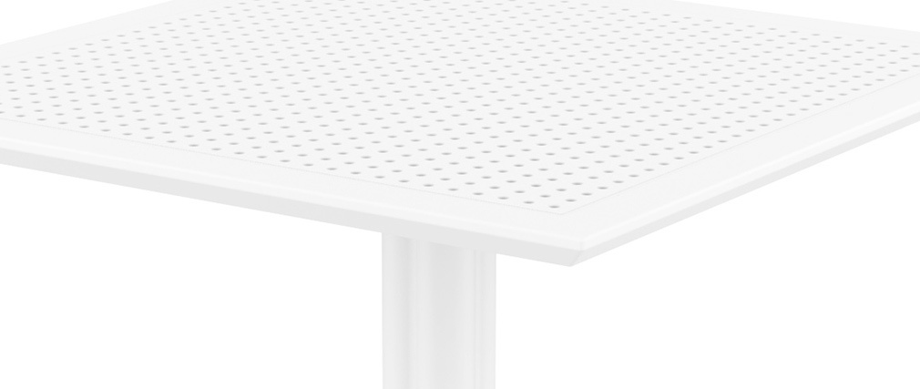 Tavolo da pranzo quadrato design bianco interno / esterno OSKOL