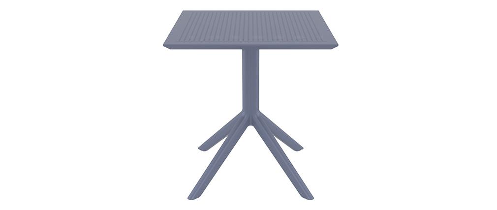 Tavolo da pranzo quadrato design grigio interno / esterno OSKOL