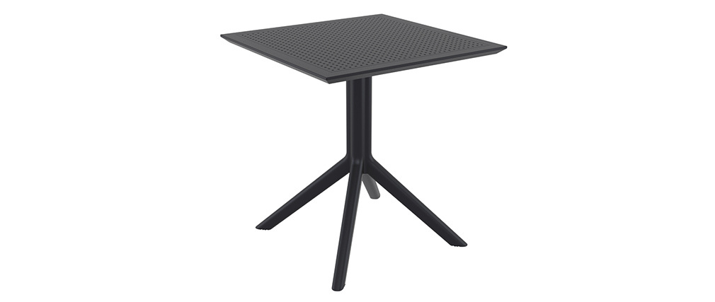 Tavolo da pranzo quadrato design nero interno / esterno OSKOL