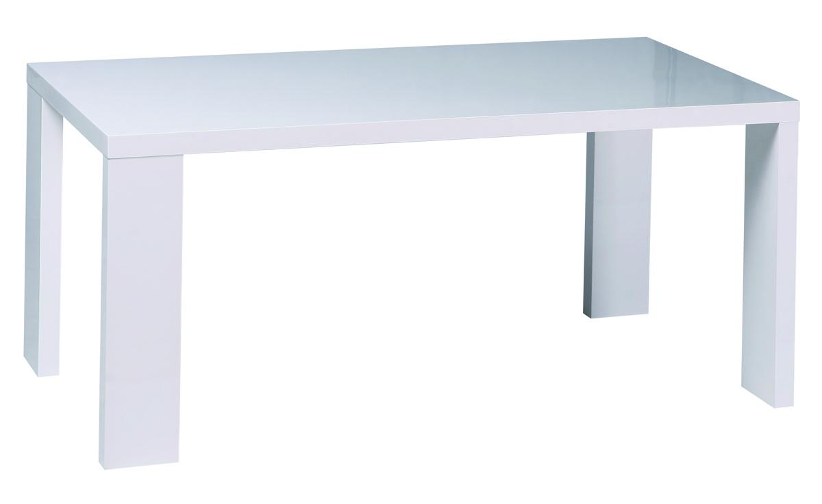 Tavolo da pranzo rettangolare laccato bianco NEW JERSEY - Miliboo
