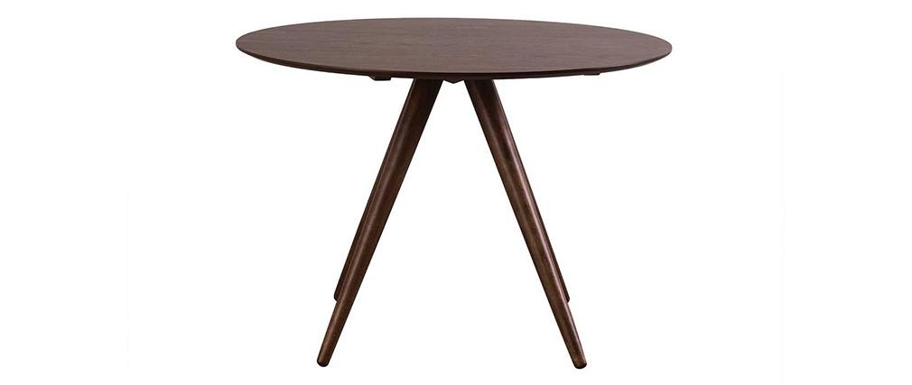 Tavolo da pranzo rotondo design 106 cm noce WALFORD