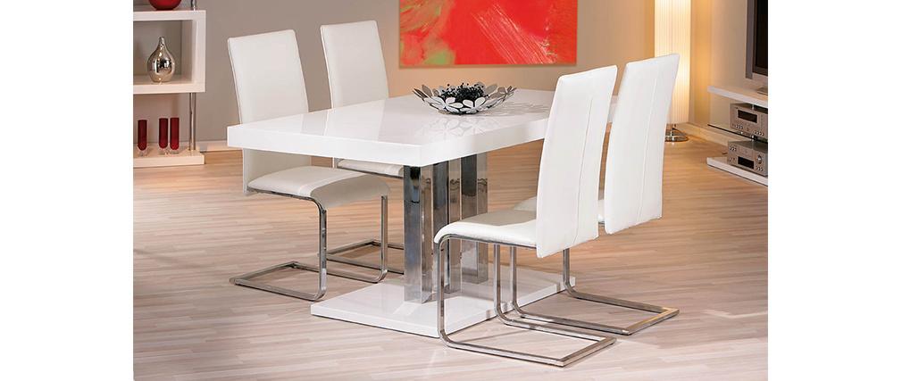 Tavolo design bianco laccato L160 ORAINE