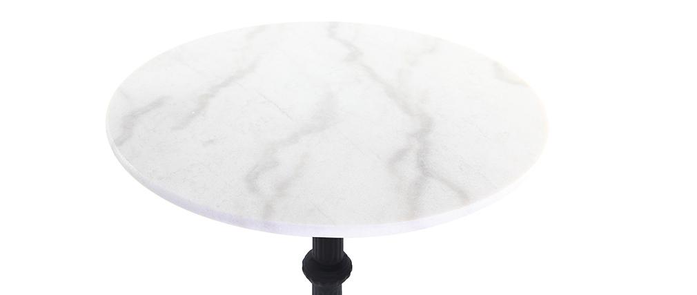Tavolo di bistrot alto rotondo in marmo e metallo CONTY
