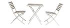 Tavolo e 2 sedie pieghevoli bianco e grigio MOJITO