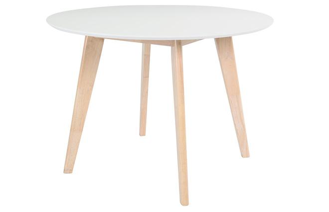 Legno Naturale Bianco : Tavolo in legno naturale e color bianco leena miliboo