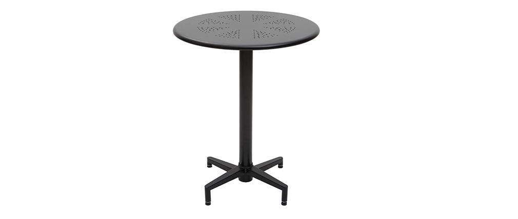 Tavolo pieghevole rotondo in metallo nero D60 DOTS