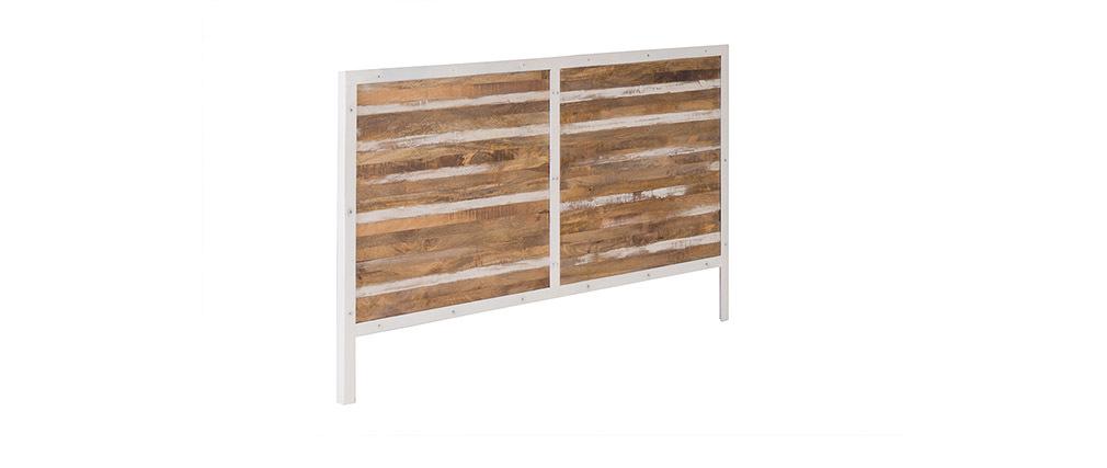 Testata da letto legno e metallo bianco 170 x 100 ROCHELLE