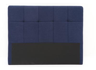 Testiera del letto classica, in tessuto, colore: Blu scuro, dimensioni: 140cm, modello: CLOVIS