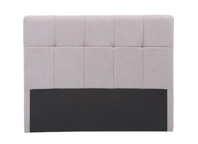 Testiera del letto classica, in tessuto, colore: Grigio chiaro, dimensioni: 140cm, modello: CLOVIS