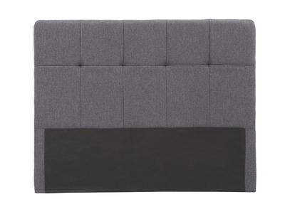 Testiera del letto classica, in tessuto, colore: Grigio scuro, dimensioni: 140cm, modello: CLOVIS