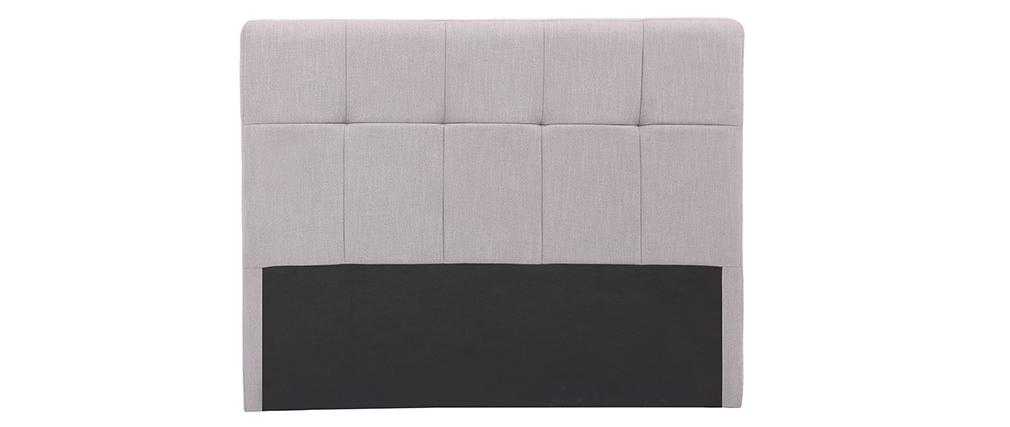 Testiera del letto classica in tessuto Grigio chiaro 140cm CLOVIS