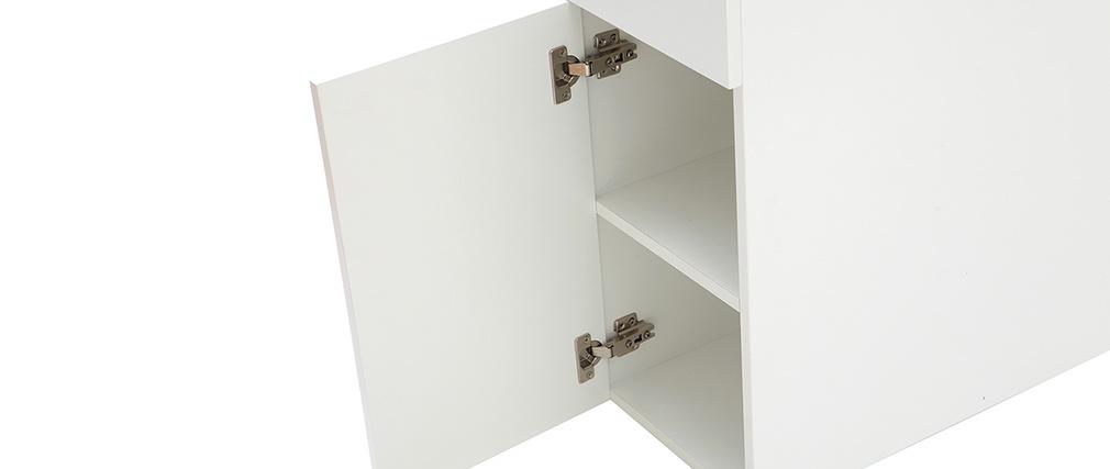 Testiera del letto con cassetti bianca 160 cm HYPNOS