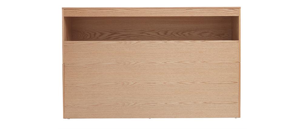 Testiera del letto con cassetti legno chiaro 160 cm HYPNOS