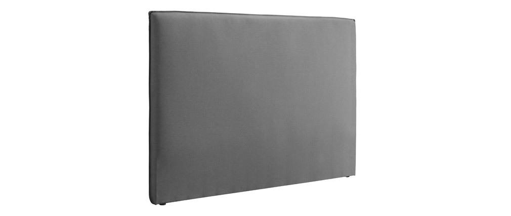 Testiera del letto design 160 cm in tessuto Grigio chiaro ATHENA