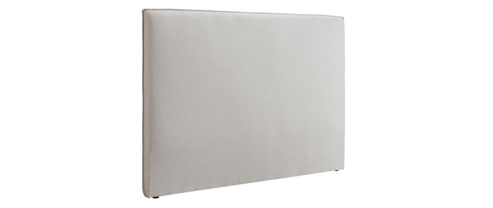 Testiera del letto design 176 cm in tessuto Beige ATHENA