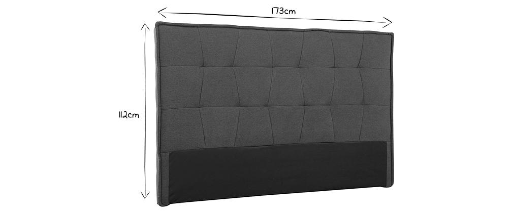 Testiera del letto grigia chiara 170 cm SUKA