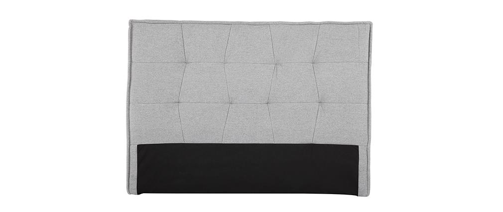 Testiera del letto grigio chiaro 150 cm SUKA