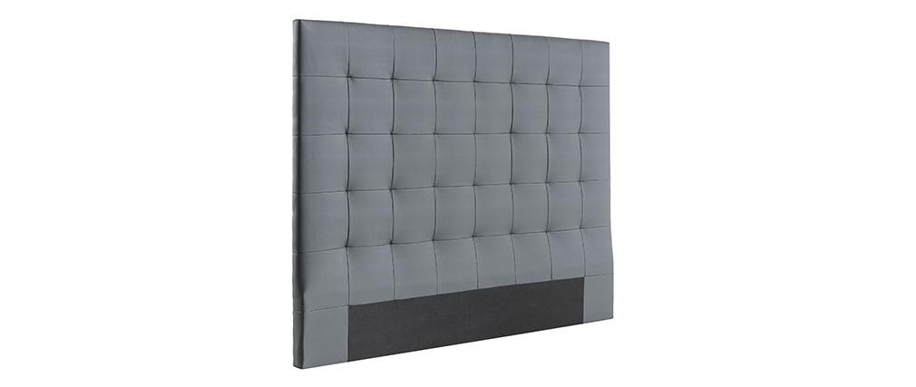 Testiera del letto imbottita grigio scuro 160 cm HALCIONA