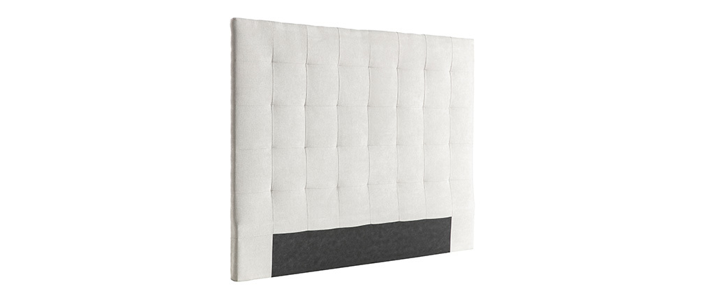 Testiera del letto imbottita in tessuto beige 160 cm HALCIONA