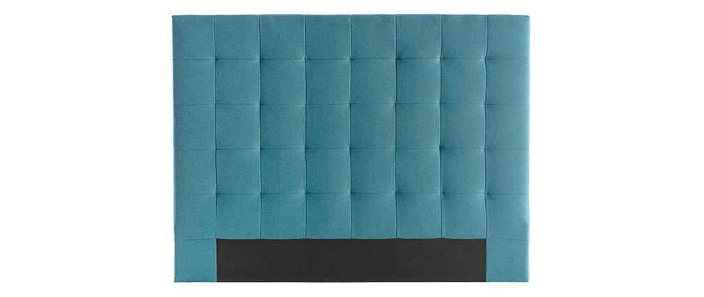 Testiera del letto imbottita in tessuto foglia di tè 160 cm HALCIONA