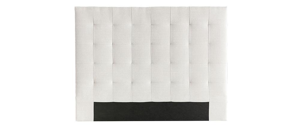 Testiera del letto imbottito in tessuto beige 140 cm HALCIONA