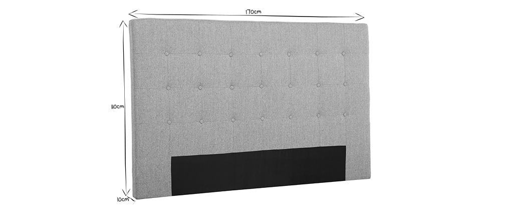 Testiera del letto in tessuto blu anatra 170 cm LUTECE