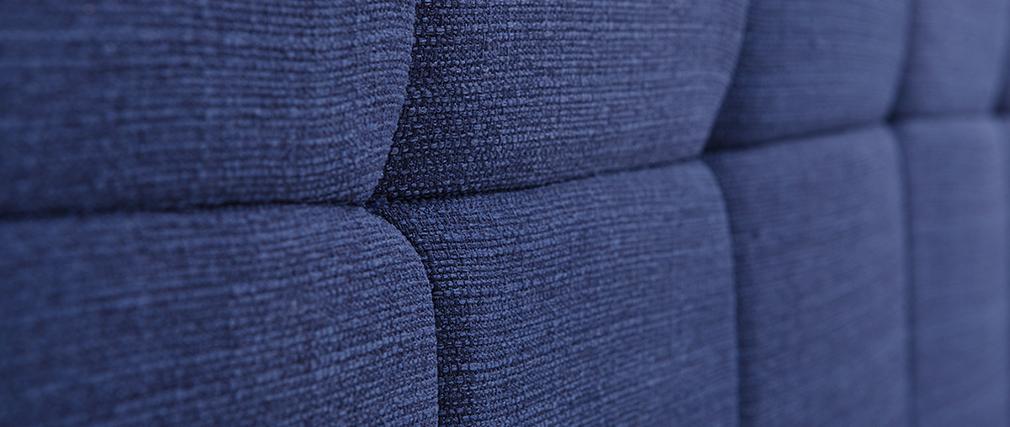 Testiera del letto in tessuto Blu scuro 160cm CLOVIS