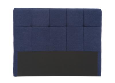 Testiera del letto, in tessuto, colore: Blu scuro, dimensioni: 160cm, modello: CLOVIS