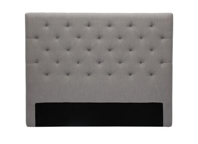 testiera del letto, in tessuto, colore: Grigio chiaro, dimensioni: 140cm, modello: ENGUERRAND