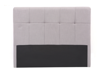 Testiera del letto, in tessuto, colore: Grigio chiaro, dimensioni: 160cm, modello: CLOVIS